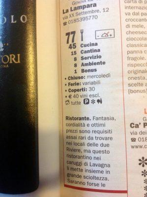 "Mens denne er fra matguiden ""Ristoranti di Veronelli"""
