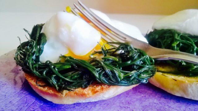 restemiddag egg spinat